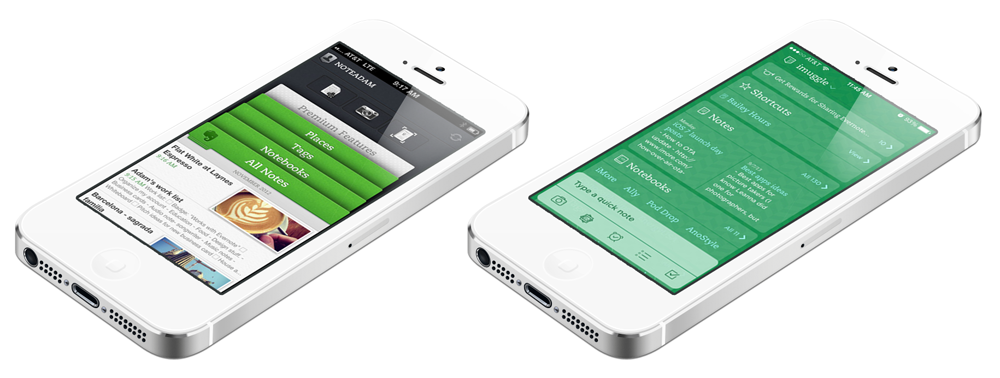 Evernote iOS – altes und neues Design