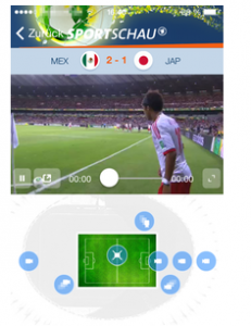 Screenshot: Sportschau FIFA WM App