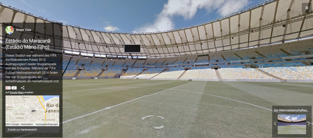 Screenshot: Estadio do Maracana in Google Street View